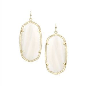 Kendra Scott White Danielle Earrings